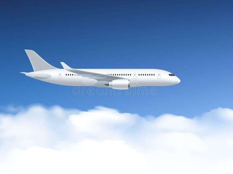 Самолет в плакате воздуха иллюстрация вектора
