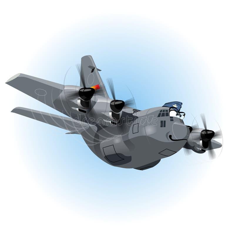 Самолет груза шаржа вектора иллюстрация штока