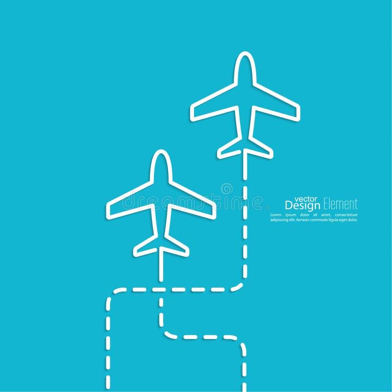 Самолет значка иллюстрация штока