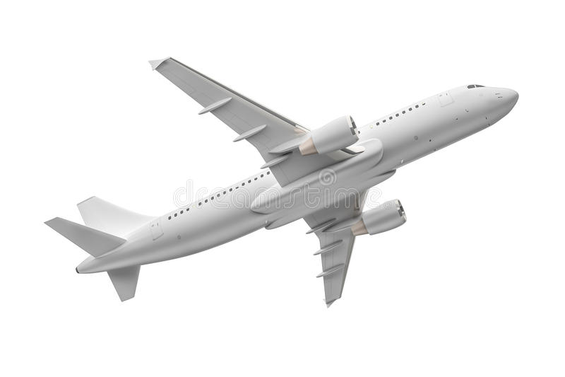 Самолет изолированный на белой предпосылке иллюстрация вектора