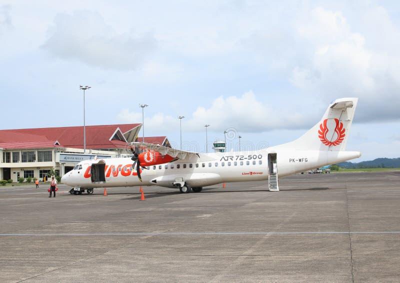 Самолет подгоняет воздух на авиапорте стоковые изображения