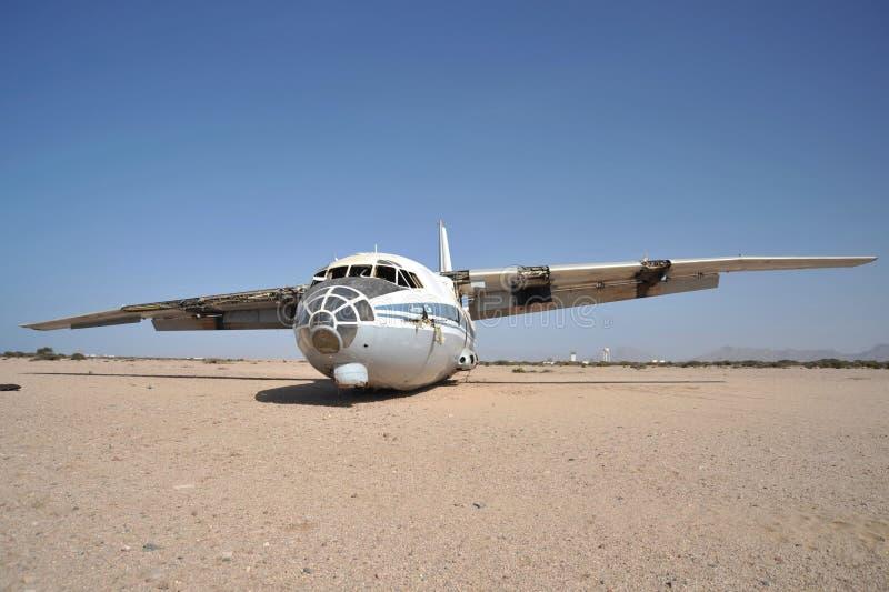 Самолет разбил на авиапорте Berbera стоковая фотография