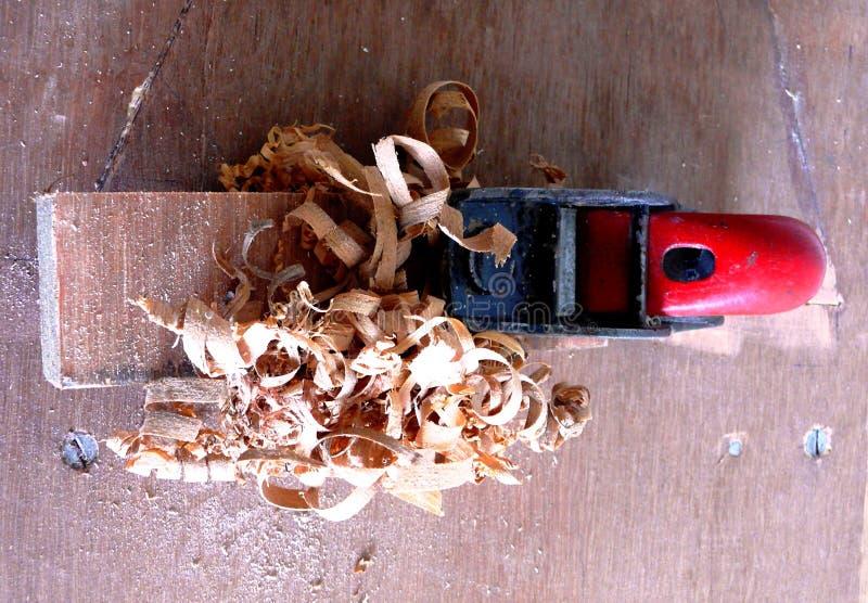 Самолет руки для древесины стоковая фотография rf