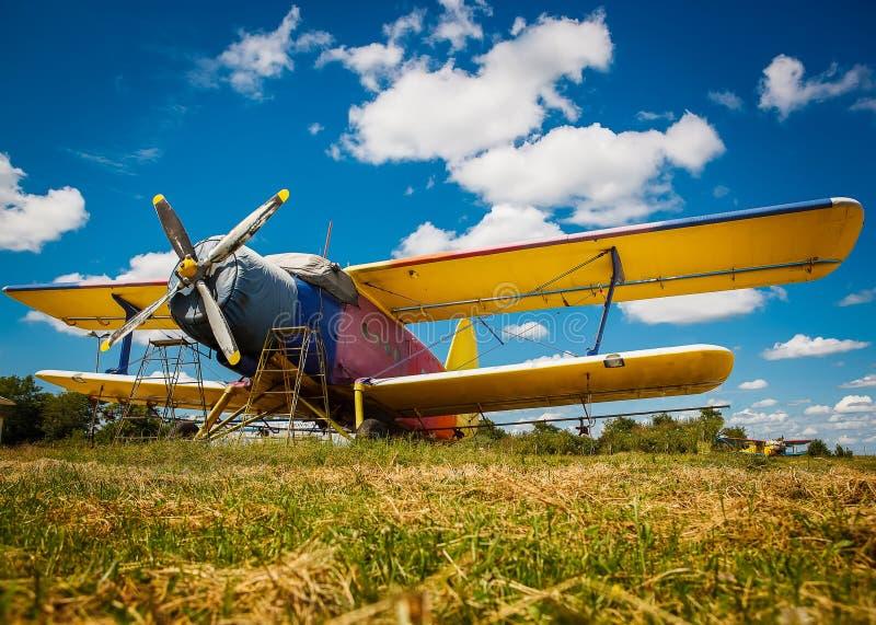 самолет старый стоковая фотография rf