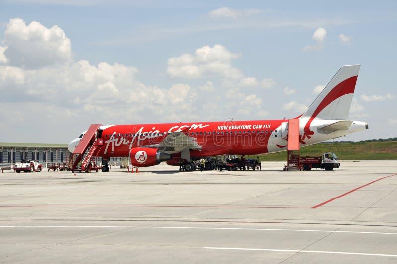Самолет Air Asia стоковые изображения