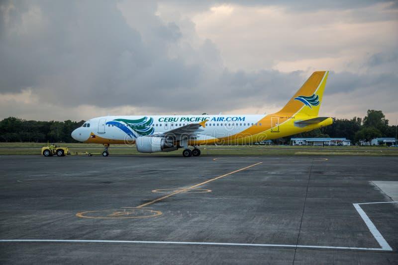 Самолет Cebu Тихий Океан стоковые изображения rf