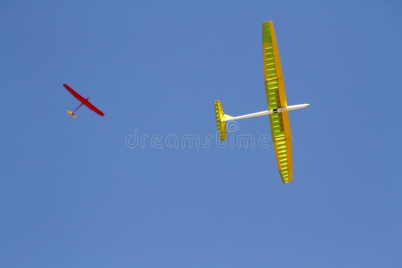 Самолет RC дистанционного управления парящий стоковые изображения rf
