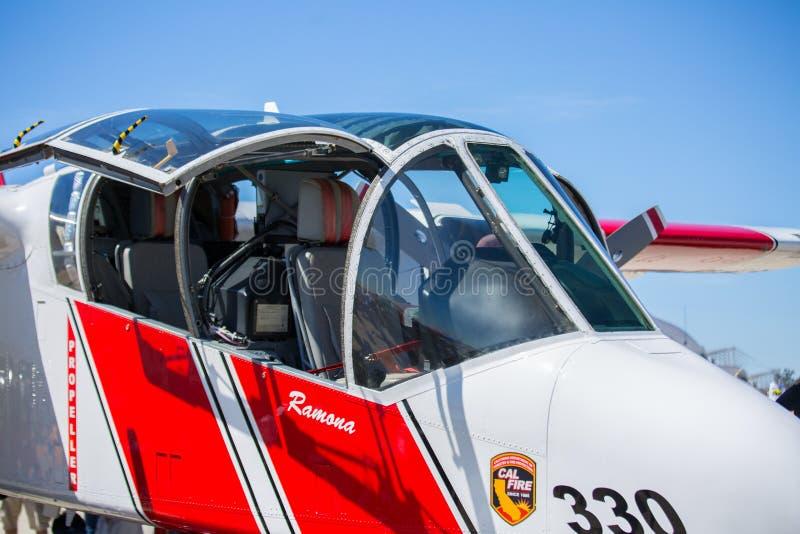 Самолет Spotter лесного пожара стоковые фотографии rf