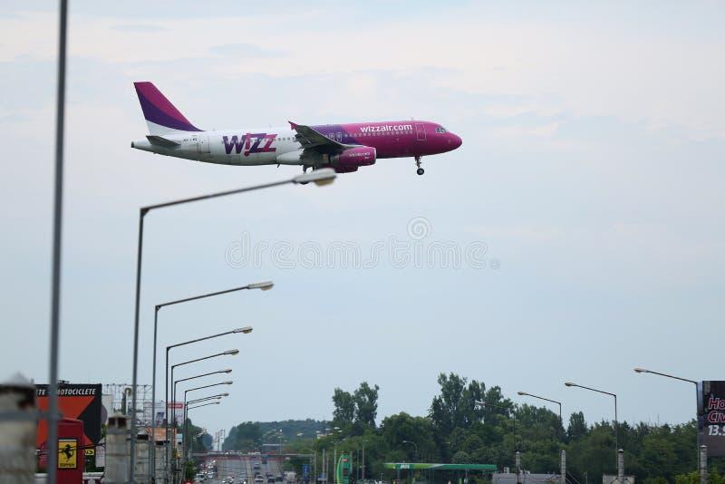 Самолет Wizzair стоковые изображения