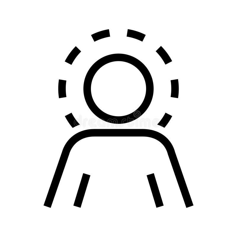 Само- значок осведомленности, иллюстрация вектора иллюстрация штока