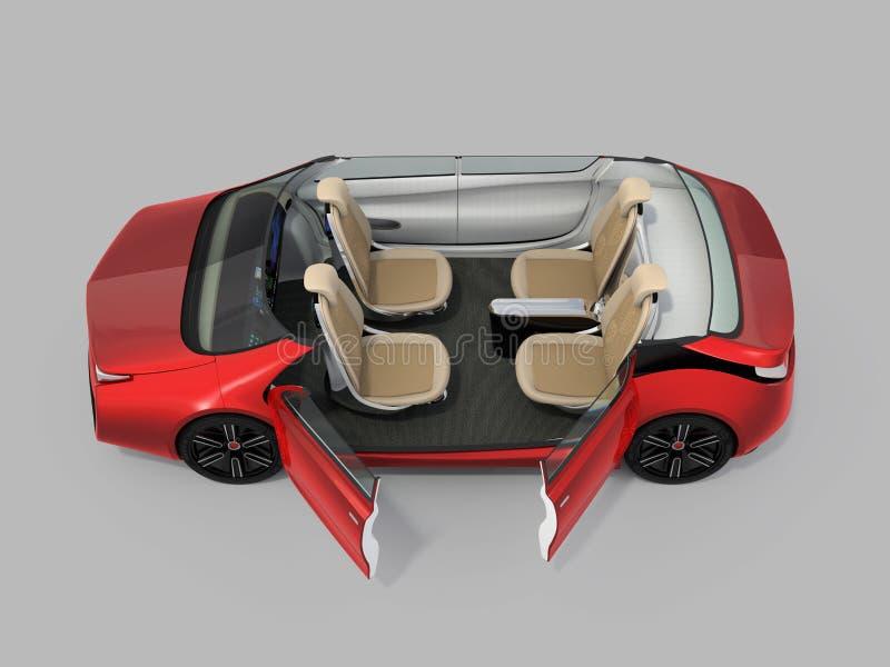 Само-управлять изображением cutaway автомобиля бесплатная иллюстрация