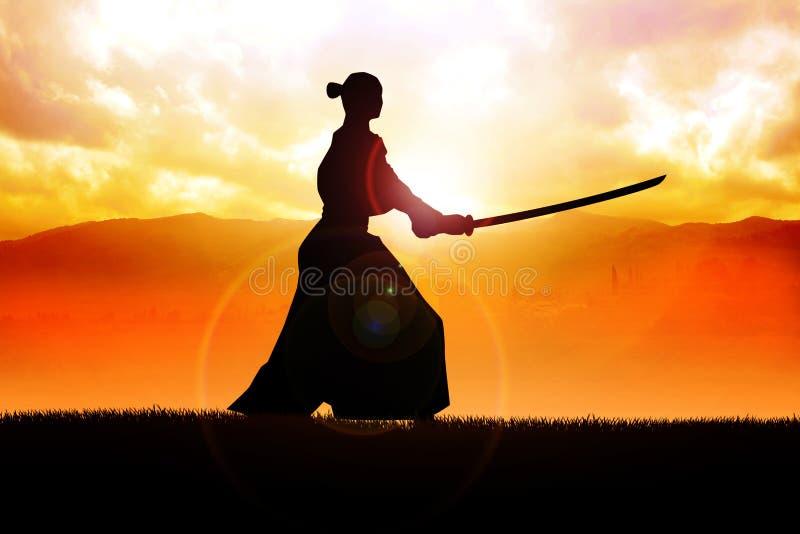 самураи иллюстрация штока