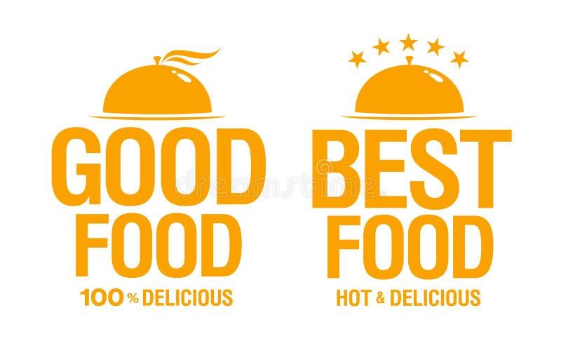 Самые лучшие вкусные знаки еды. иллюстрация штока