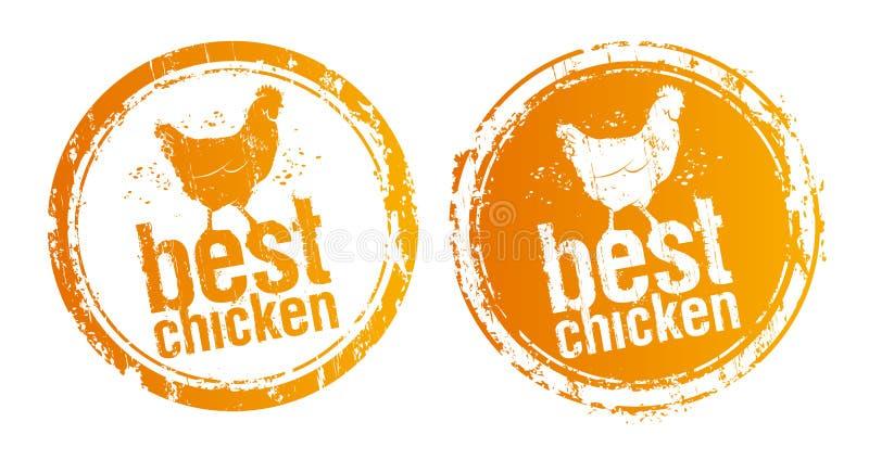 самые лучшие штемпеля цыпленка иллюстрация вектора