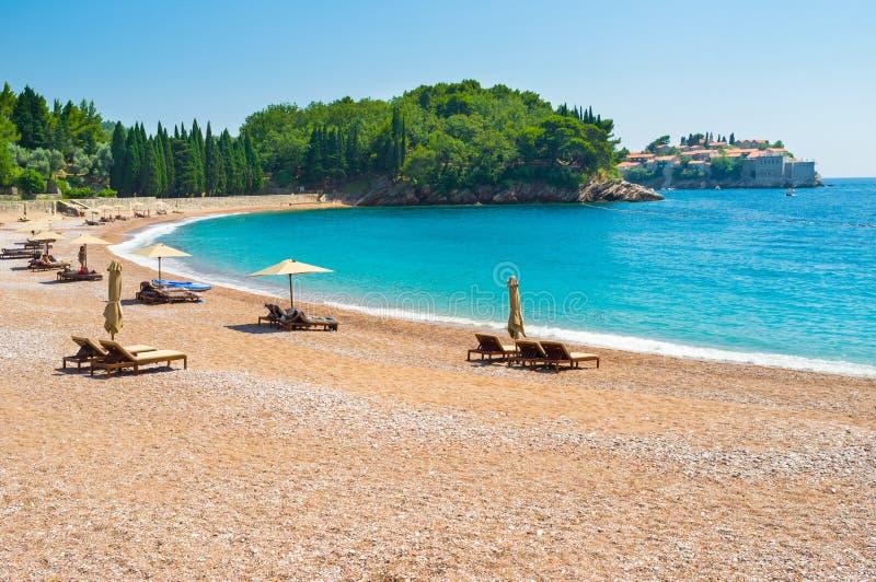 Самые лучшие пляжи Черногории стоковое изображение rf
