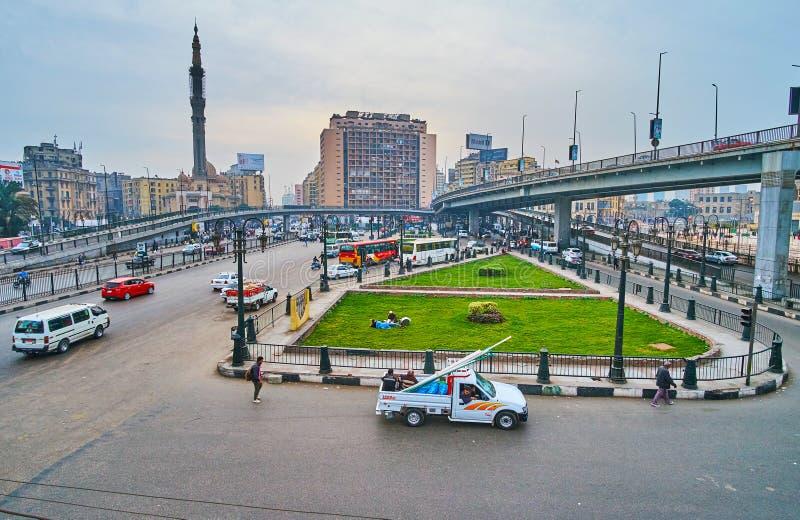 Самый большой квадрат в Каире, Египте стоковая фотография rf