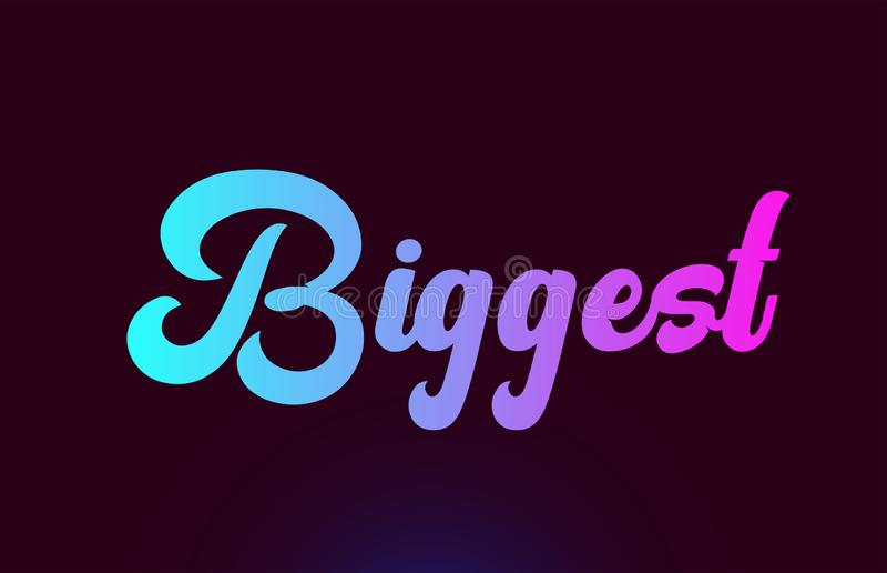 Самый большой розовый дизайн значка логотипа текста слова для оформления иллюстрация вектора