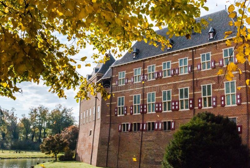 Самый большой замка Бенелюкса в Нидерландах на borde стоковое фото