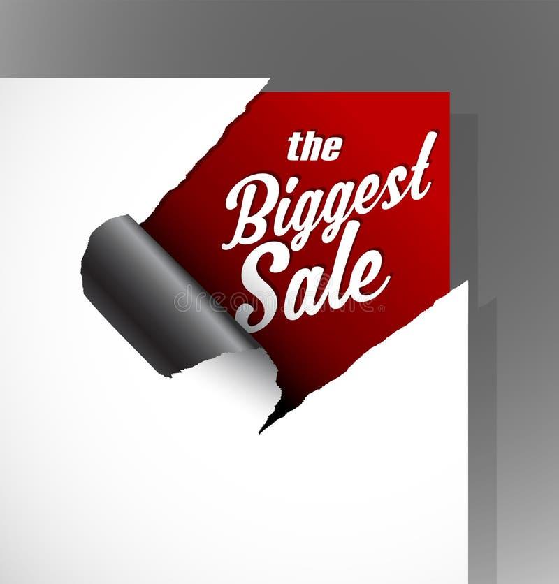 Самый большой текст продажи бесплатная иллюстрация