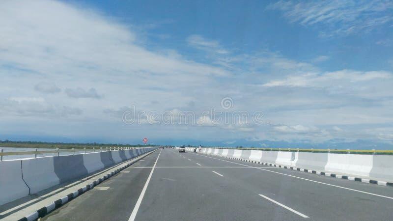 Самый длинный мост в Индии стоковое фото rf