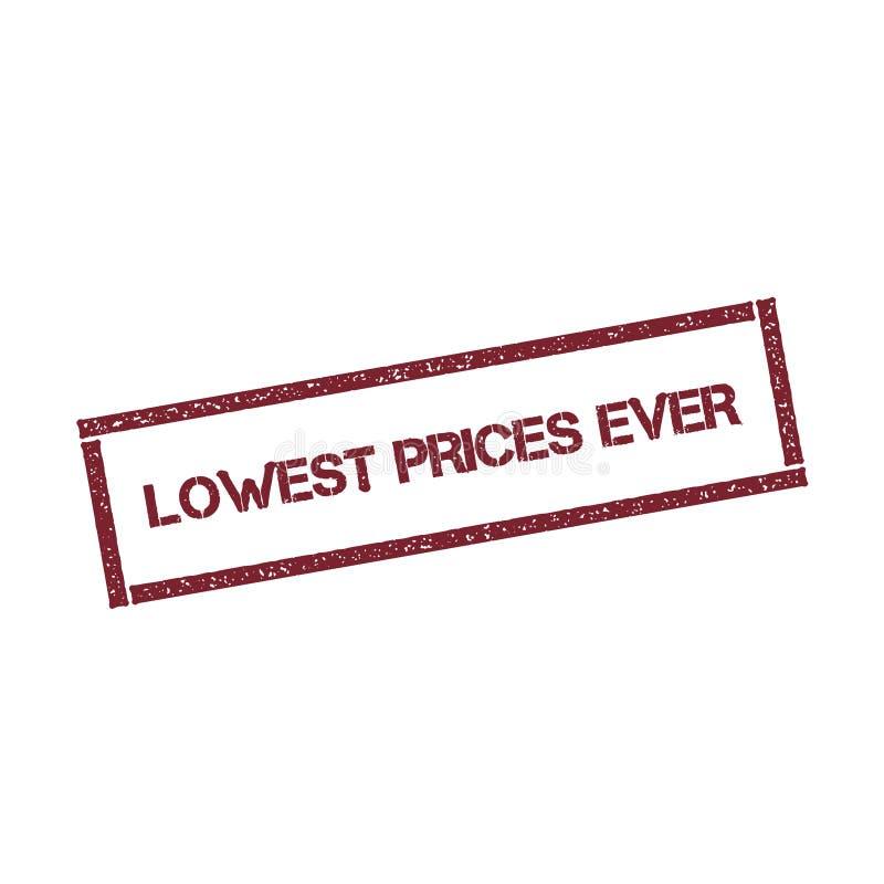 Самый низкий штемпель цен всегда прямоугольный бесплатная иллюстрация