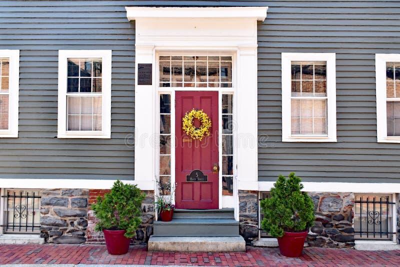 Самый старый деревянный дом в южном конце Бостона стоковое фото rf