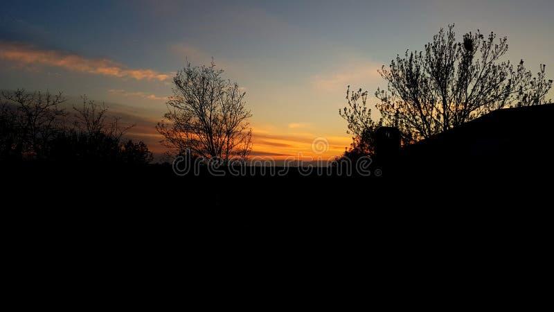 Самый лучший заход солнца! стоковые изображения rf