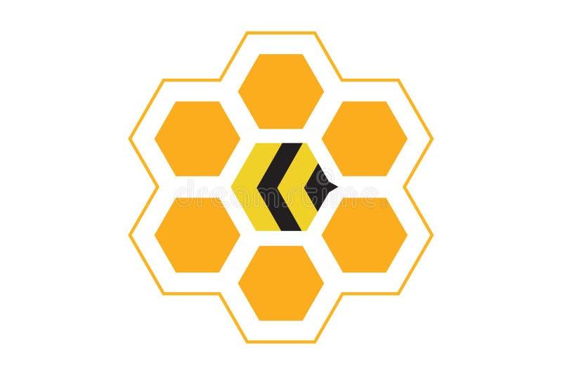 Самый лучший логотип крапивницы пчелы иллюстрация штока
