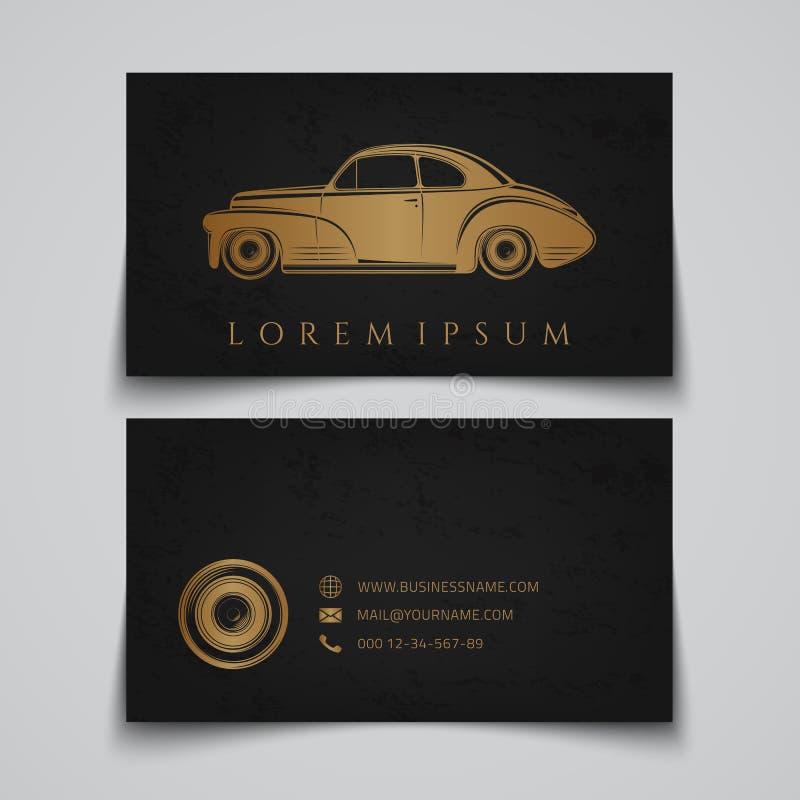 самый лучший оригинал визитной карточки печатает готовый вектор шаблона Классический логотип автомобиля иллюстрация вектора