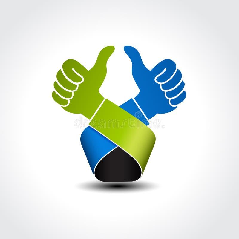 Самый лучший отборный символ - показывать рука, как значок, о'кей иллюстрация штока