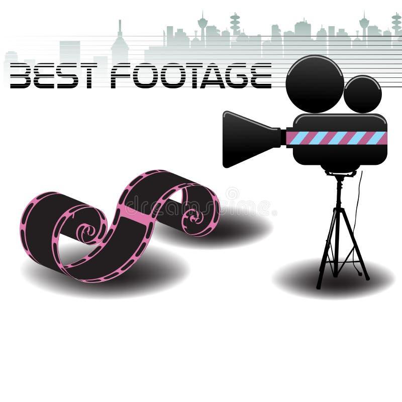 Самый лучший отснятый видеоматериал иллюстрация штока