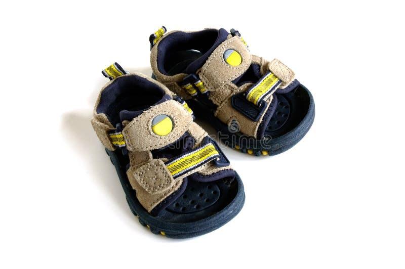 сандалии младенца стоковое изображение