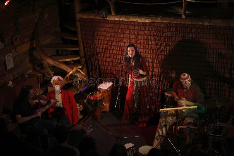 сандалия группы ethno фольклорная стоковая фотография