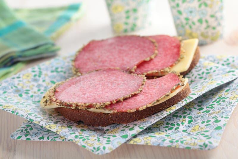 сандвичи бумажной плиты стоковая фотография rf