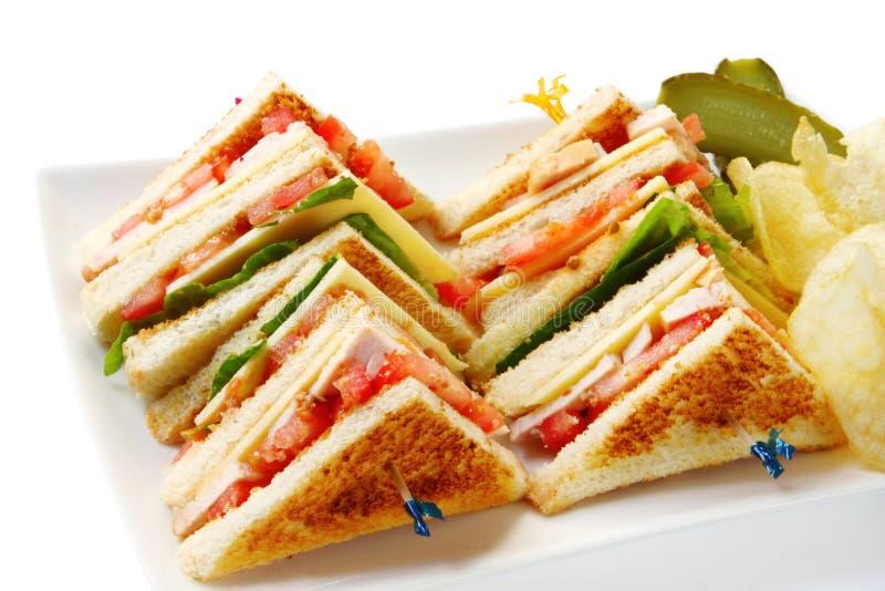 сандвичи клуба стоковая фотография rf