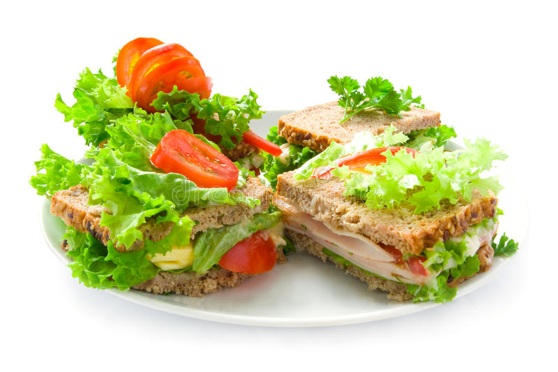 сандвичи плиты стоковое изображение