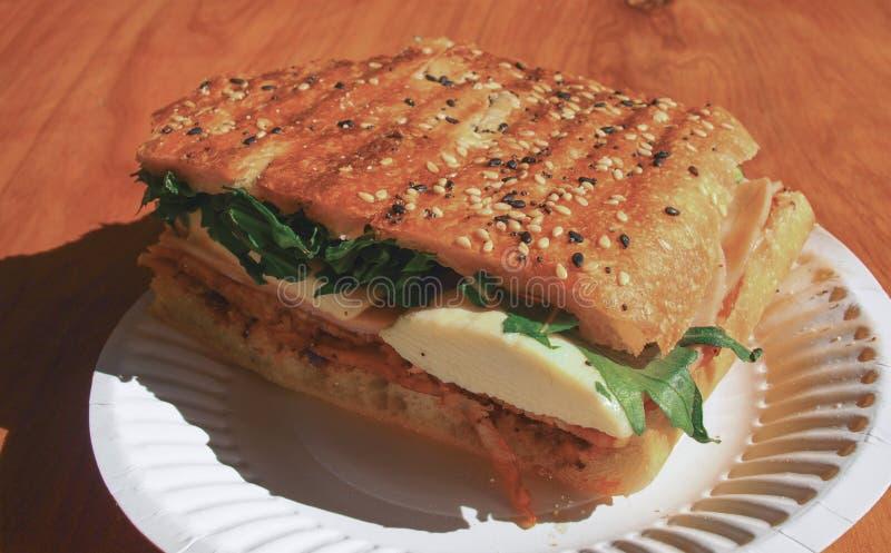 Сандвич бекона и яичка стоковая фотография