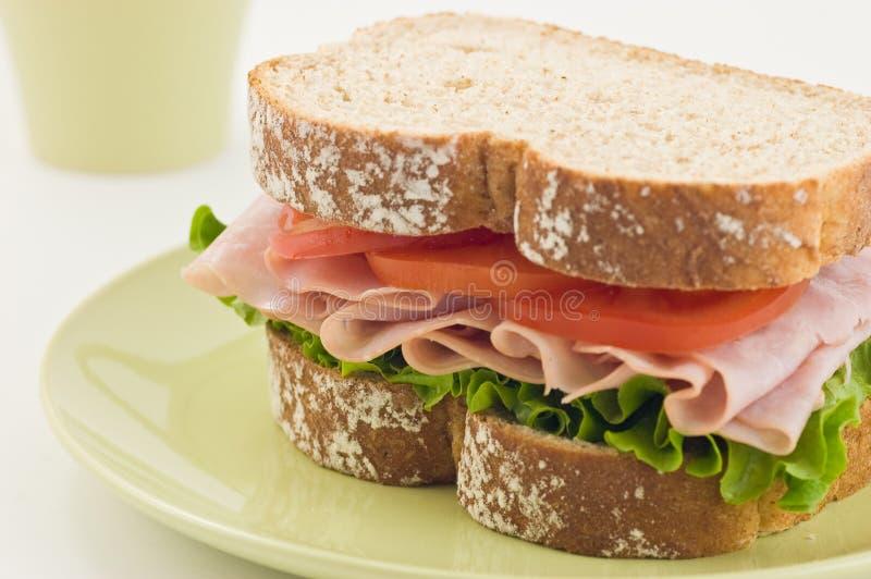 сандвич ветчины здоровый стоковые изображения