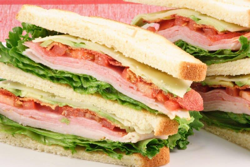 сандвич еды перста доставки с обслуживанием стоковые фото