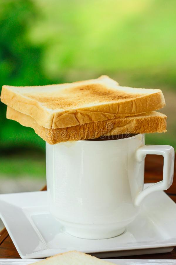 Сандвич, завтрак, кофе - питье, плита, хлеб стоковые фотографии rf