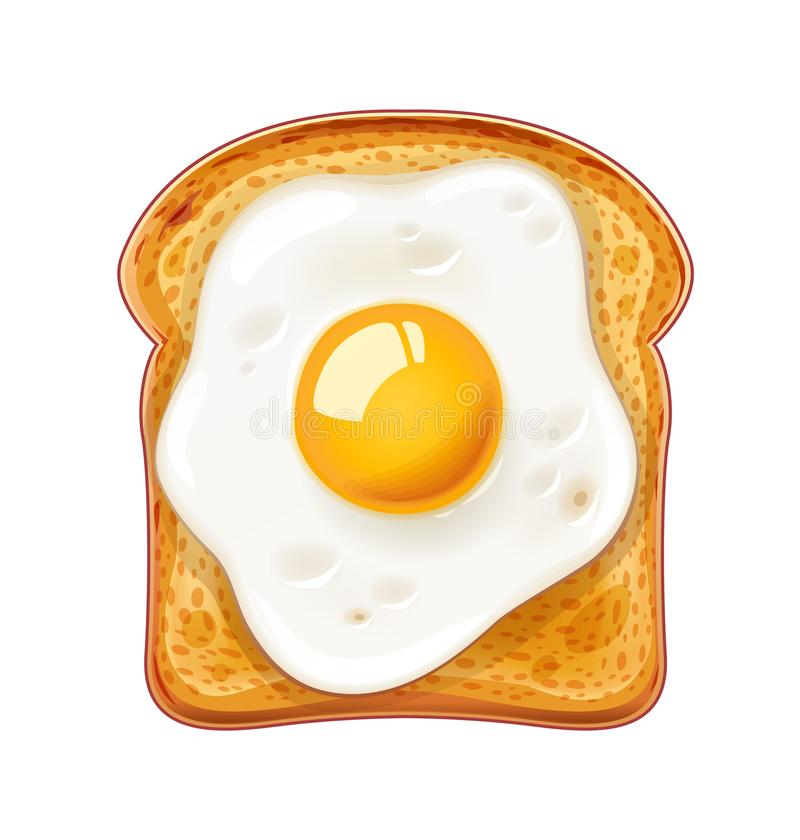 сандвич зажаренный яичком Быстро-приготовленное питание бесплатная иллюстрация