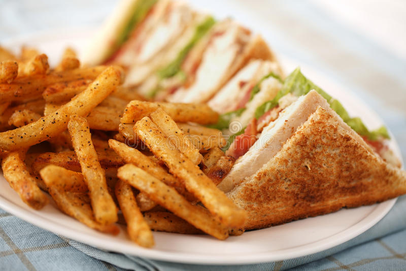 сандвич клуба просто стоковая фотография rf