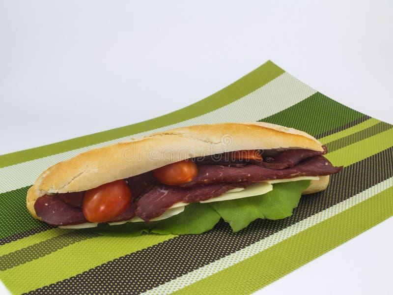 Сандвич подводной лодки говядины стоковая фотография