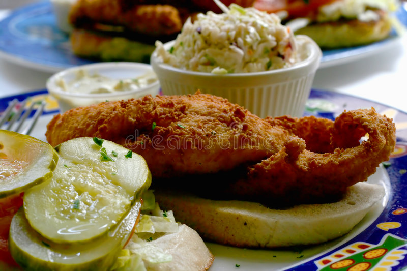 сандвич рыб стоковые фотографии rf