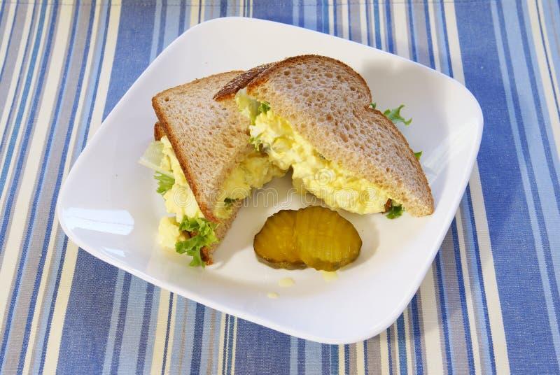 сандвич салата яичка стоковое фото rf