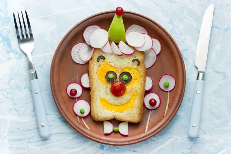 Сандвич стороны клоуна стоковые фотографии rf