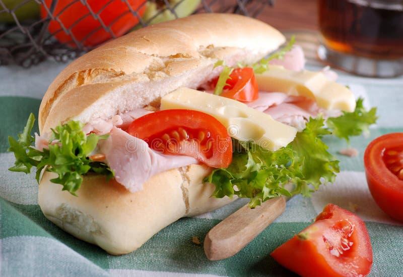 Сандвич с ветчиной и сыром стоковые изображения rf