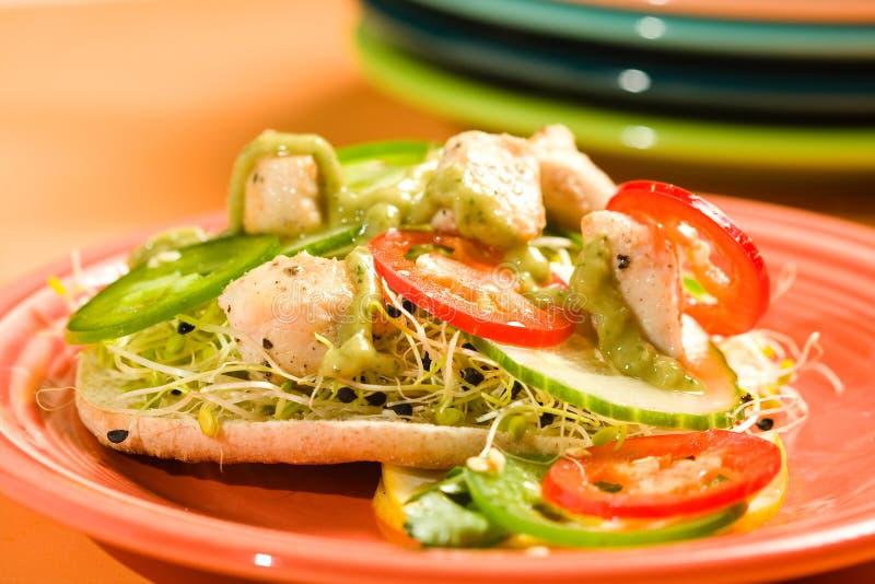сандвич цыпленка стоковое изображение