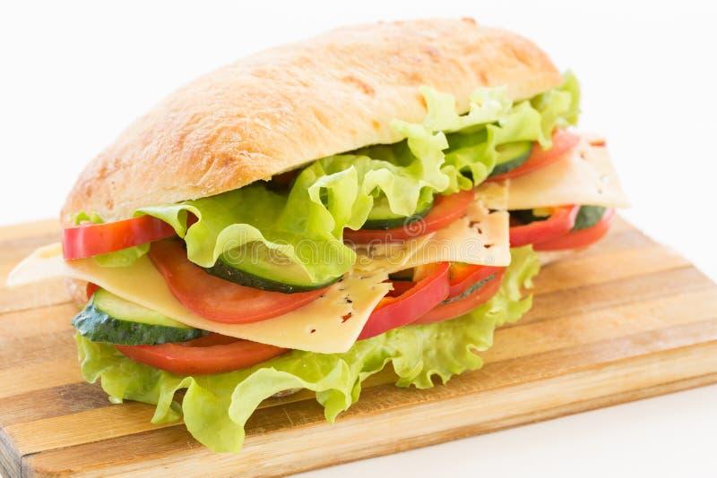 Сандвич Ciabatta с сыром стоковое фото rf