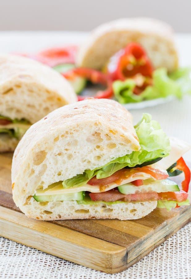 Сандвич Ciabatta с сыром стоковые изображения